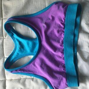 Purple and Blue Sports Bra